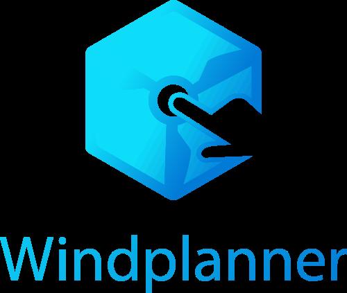 Windplanner_logo_UpDown_blauw_gradient