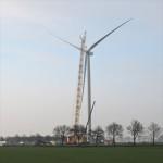 Eerste Nordex windturbine geinstalleerd van windpark Kattenberg