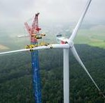 Windpark Wieringermeer gaat het bos in