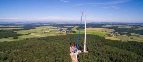 De Nordex N131, 3.3 MW kan ook bij lage windsnelheden veel energie opwekken