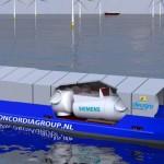 Siemens serviceschip voor Gemini windpark gedoopt