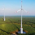 Windturbine met geïntegreerde watertank in Duitsland