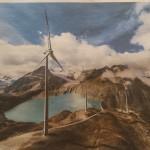 Europa's hoogste windpark (op 2500 m hoogte) in Zwitserland geinstalleerd