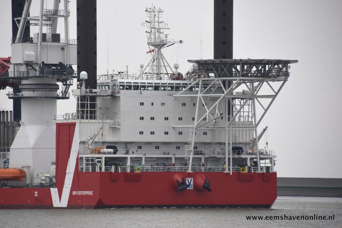 Eemshaven offshore windpark Noordzee