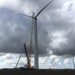 Lagerwey L136 windturbine is momenteel Neerlands hoogste windturbine en staat in de Eemshaven