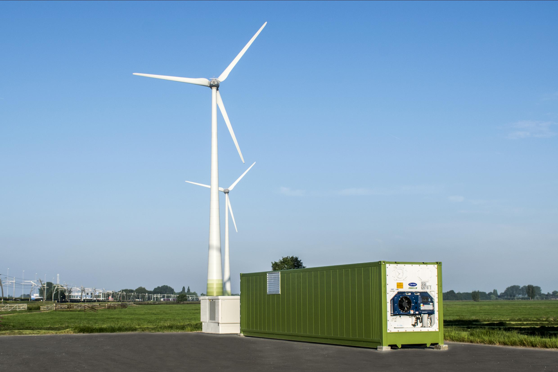 Windpark Giessenwind combineert windenergie met energieopslag