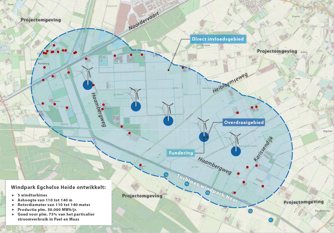 Beroep tegen omgevingsvergunning Windpark Egchelse Heide verworpen