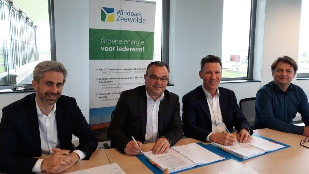 Windpark Zeewolde bouwt eigen aansluiting op het hoogspanningsnet