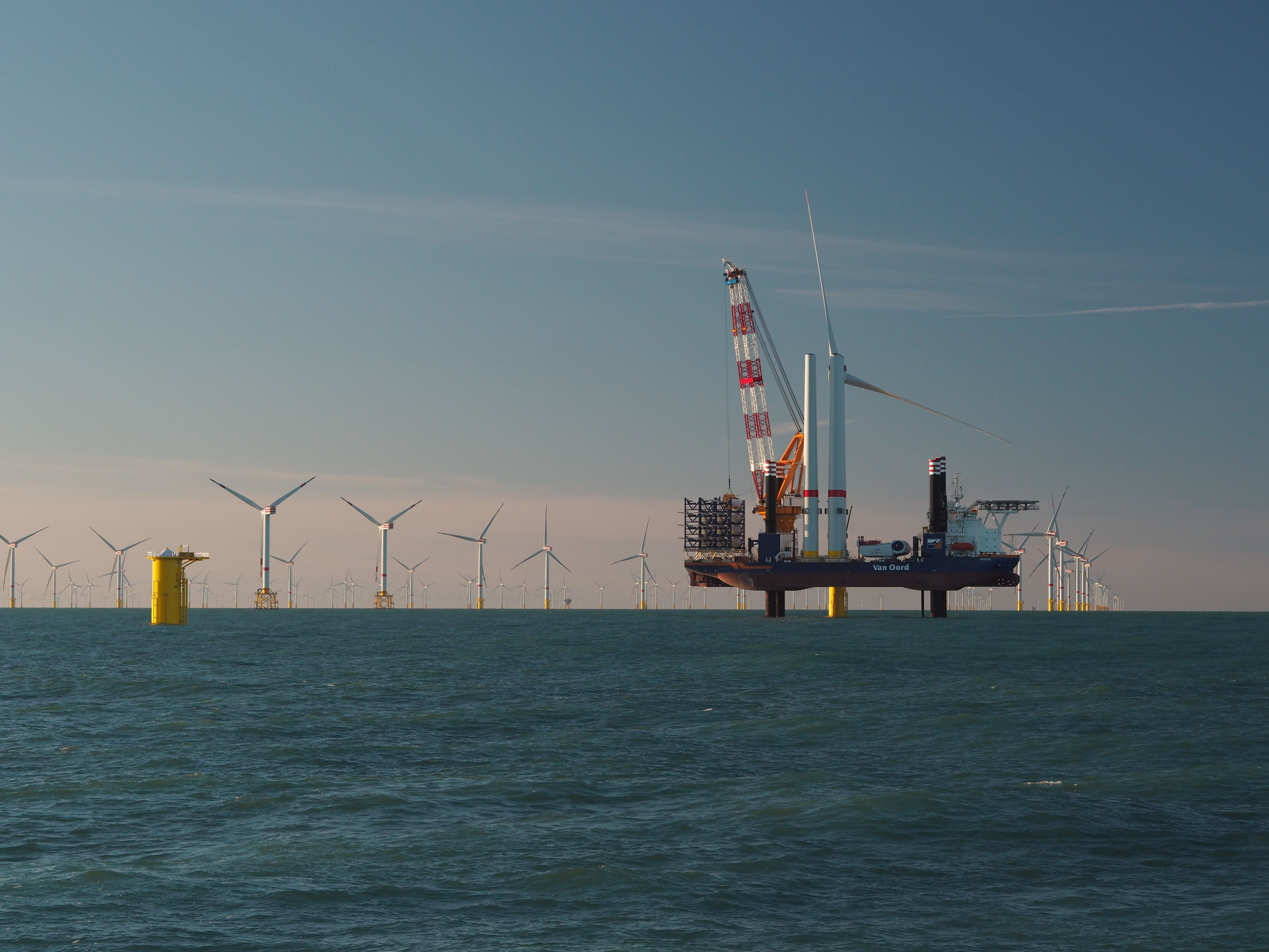 Eerste windturbines operationeel van offshore windpark Norther