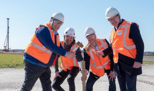 Startsein bouw Windpark De Veenwieken