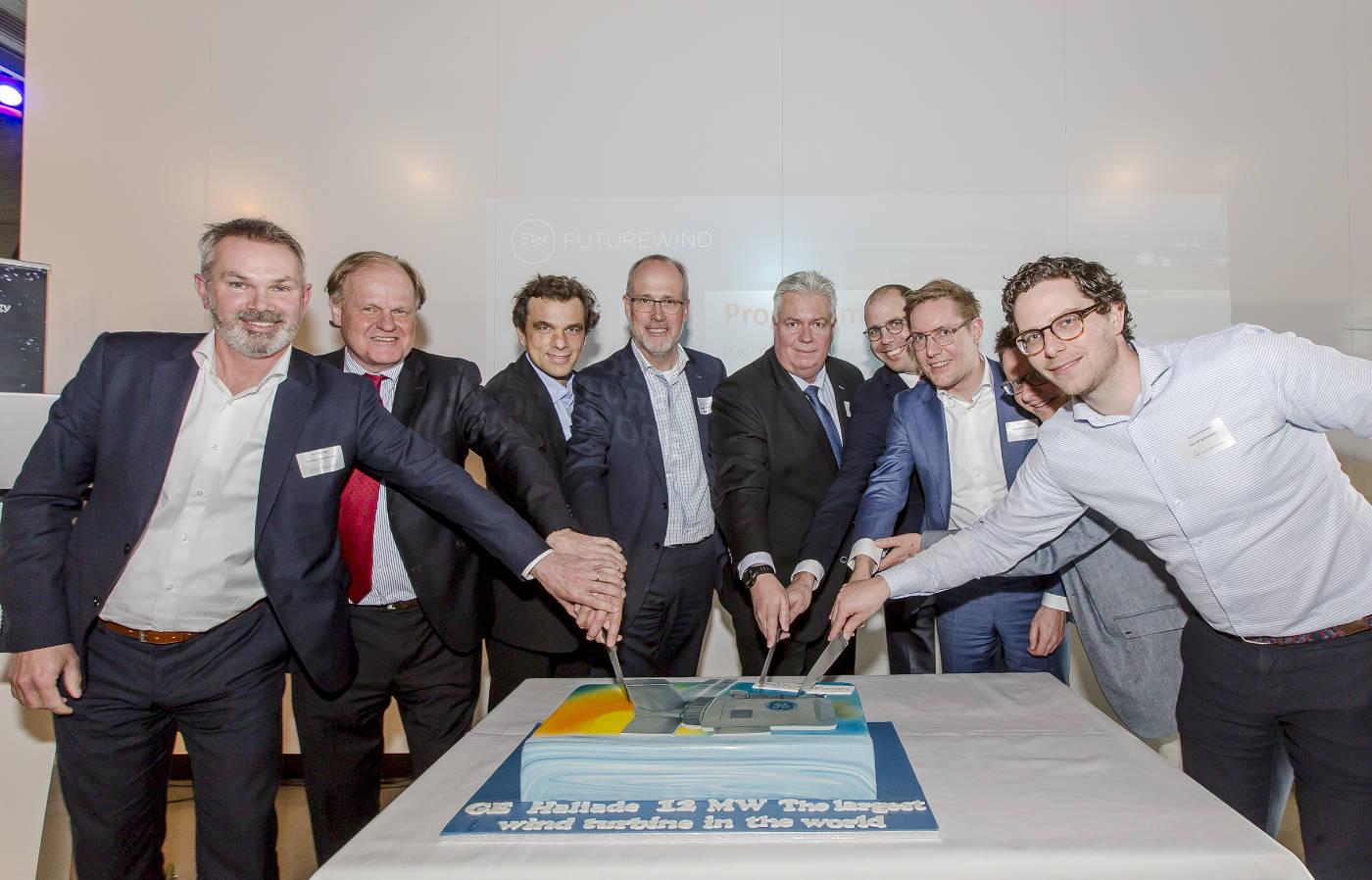 Symbolische openingsceremonie Haliade-X 12 MW