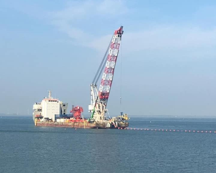 Tweede exportkabel Borssele Alpha bereikt land