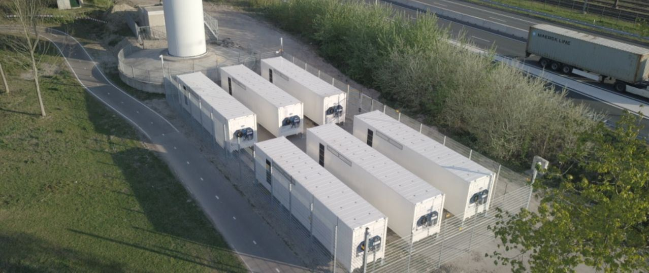 Greenchoice neemt grootste batterijopslag bij een windpark in gebruik