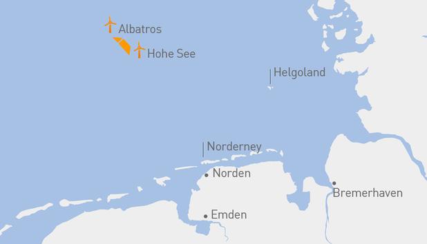 Duitsland: OWP Hohe See produceert eerste stroom