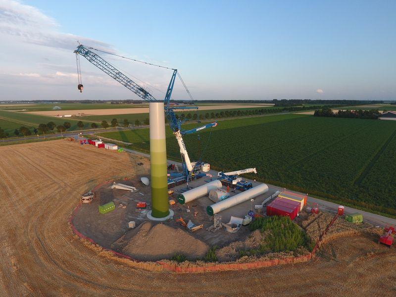 Start installatie windturbines Windpark Samen voor de Wind