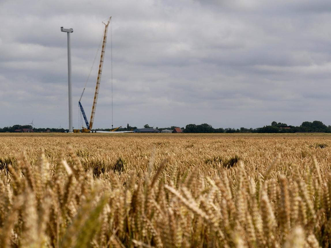 Vattenfall plaatst meetmasten in Windpark Wieringermeer