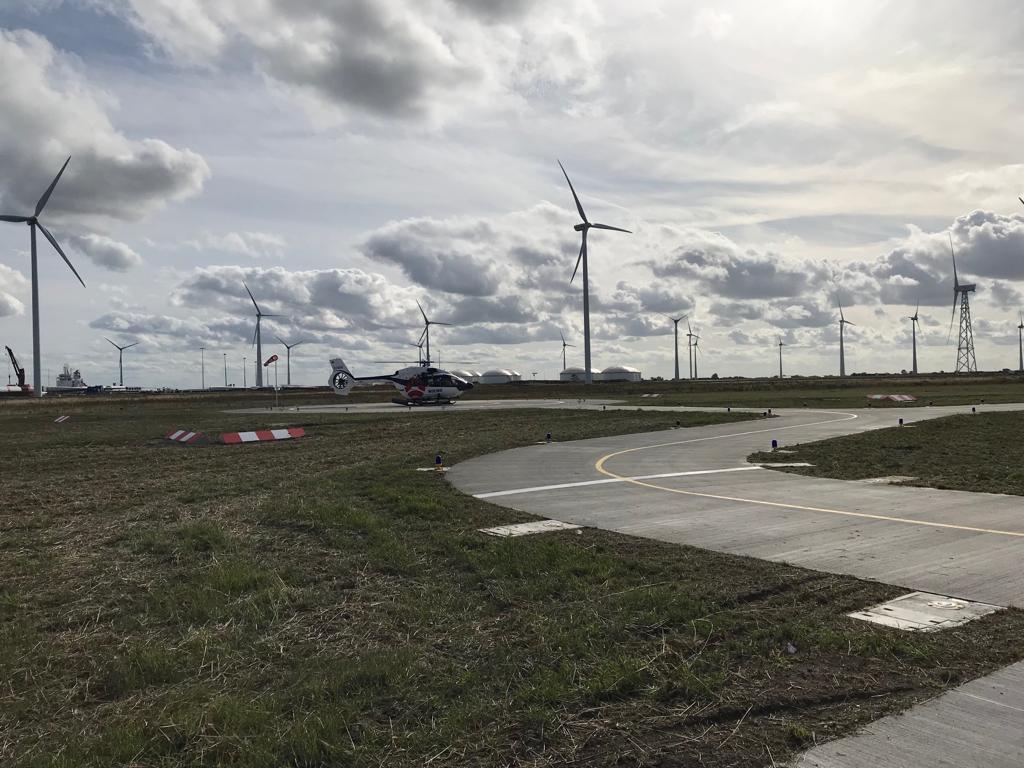 Nieuwe heliport in Eemshaven gaat offshore windparken bedienen