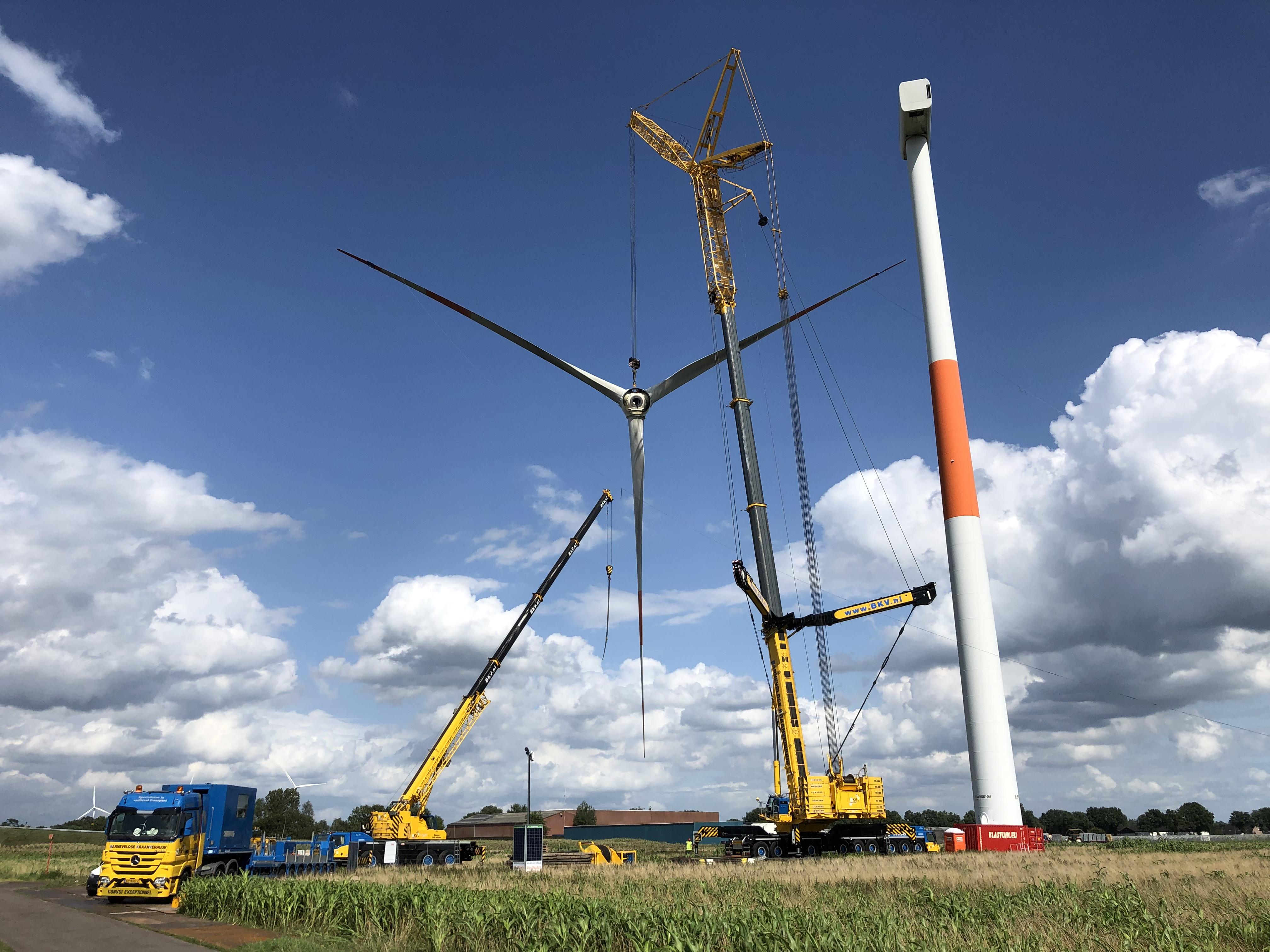 Business in Wind is begonnen met ontmanteling Belgische windturbines