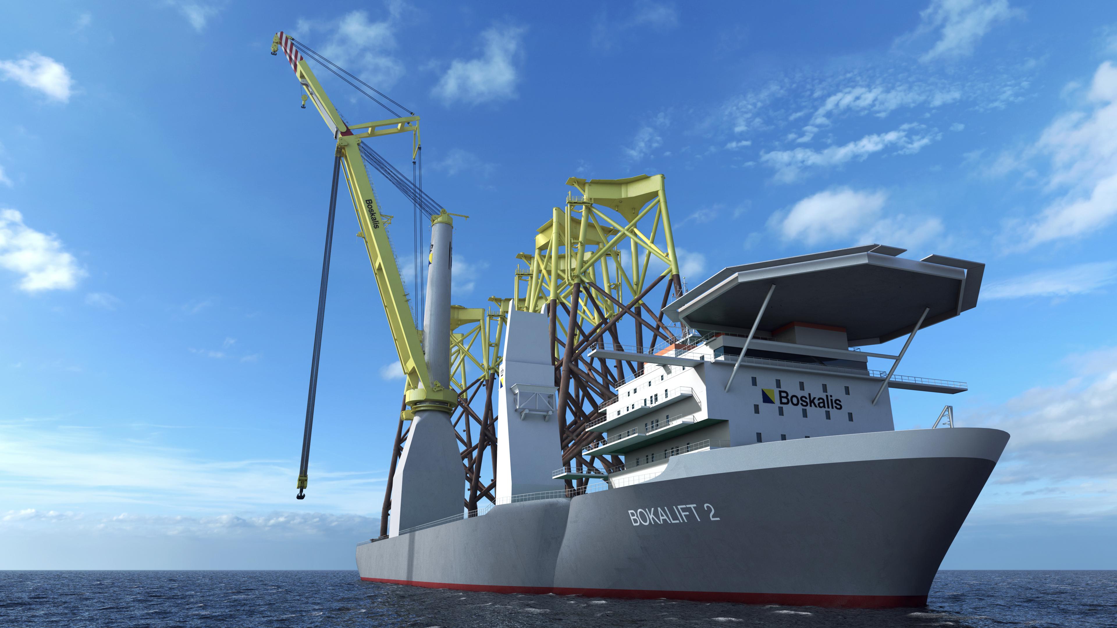 Boskalis' nieuwe kraanschip Bokalift 2 ingezet bij Taiwanese windparken