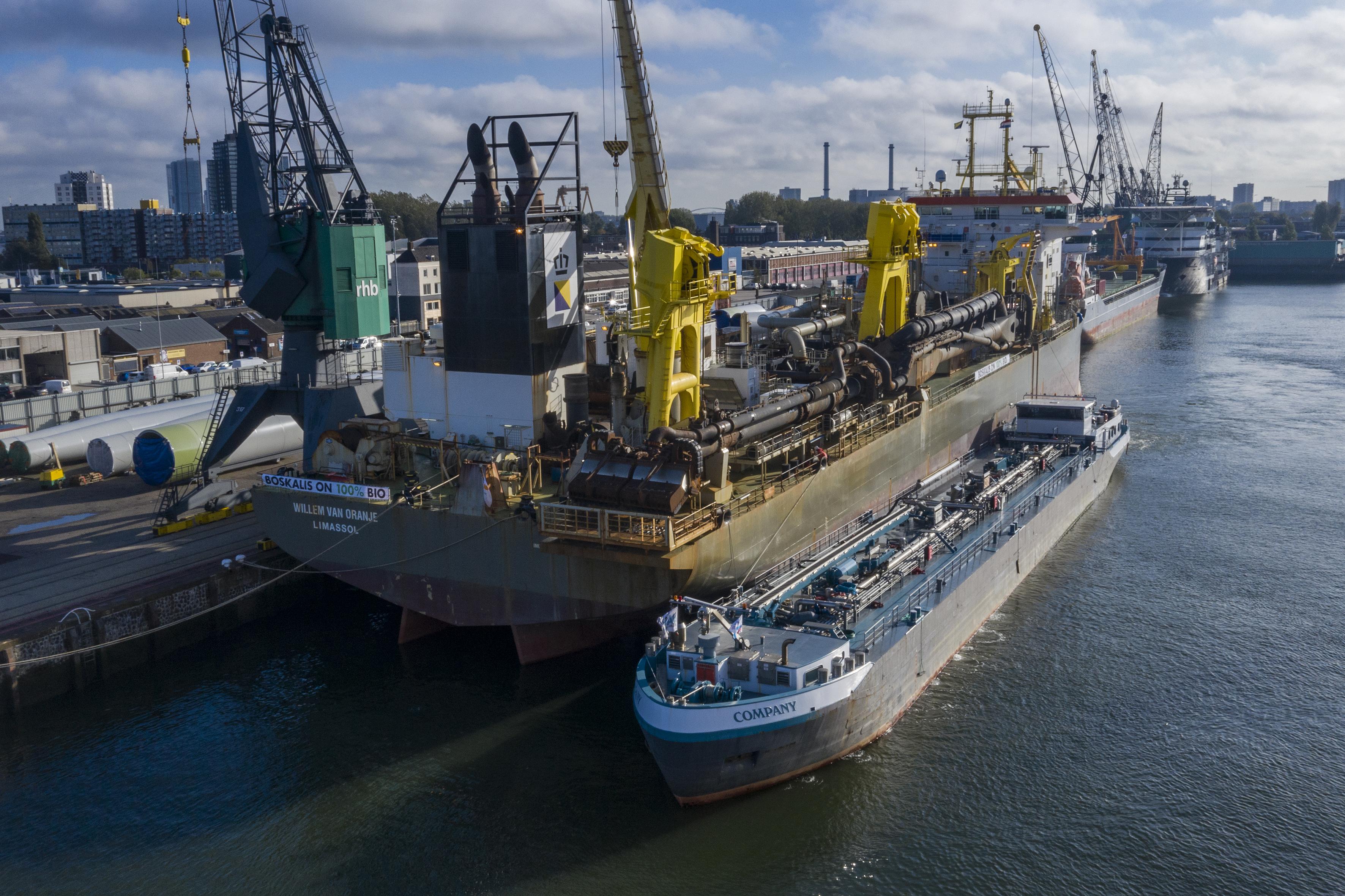 Eerste baggerschip op 100% bio-stookolie moet weg leiden naar CO2-reductie schepen Boskalis