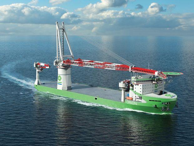 Installatieschip Orion krijgt Liebherr kraan van 5.000 ton