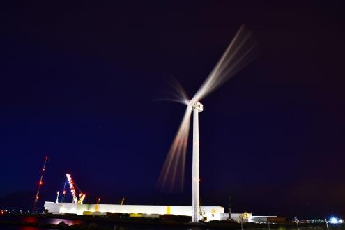 GE's Haliade-X 12 MW prototype produceert voor het eerst