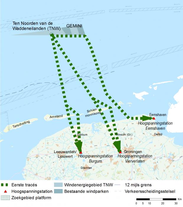 Positief oordeel MER over onderzoek naar mogelijke kabelroutes voor Windpark ten noorden van de Waddeneilanden