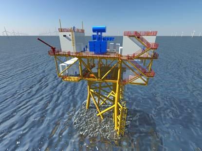 KenzFigee levert kranen voor offshore platforms in Schots offshore windpark