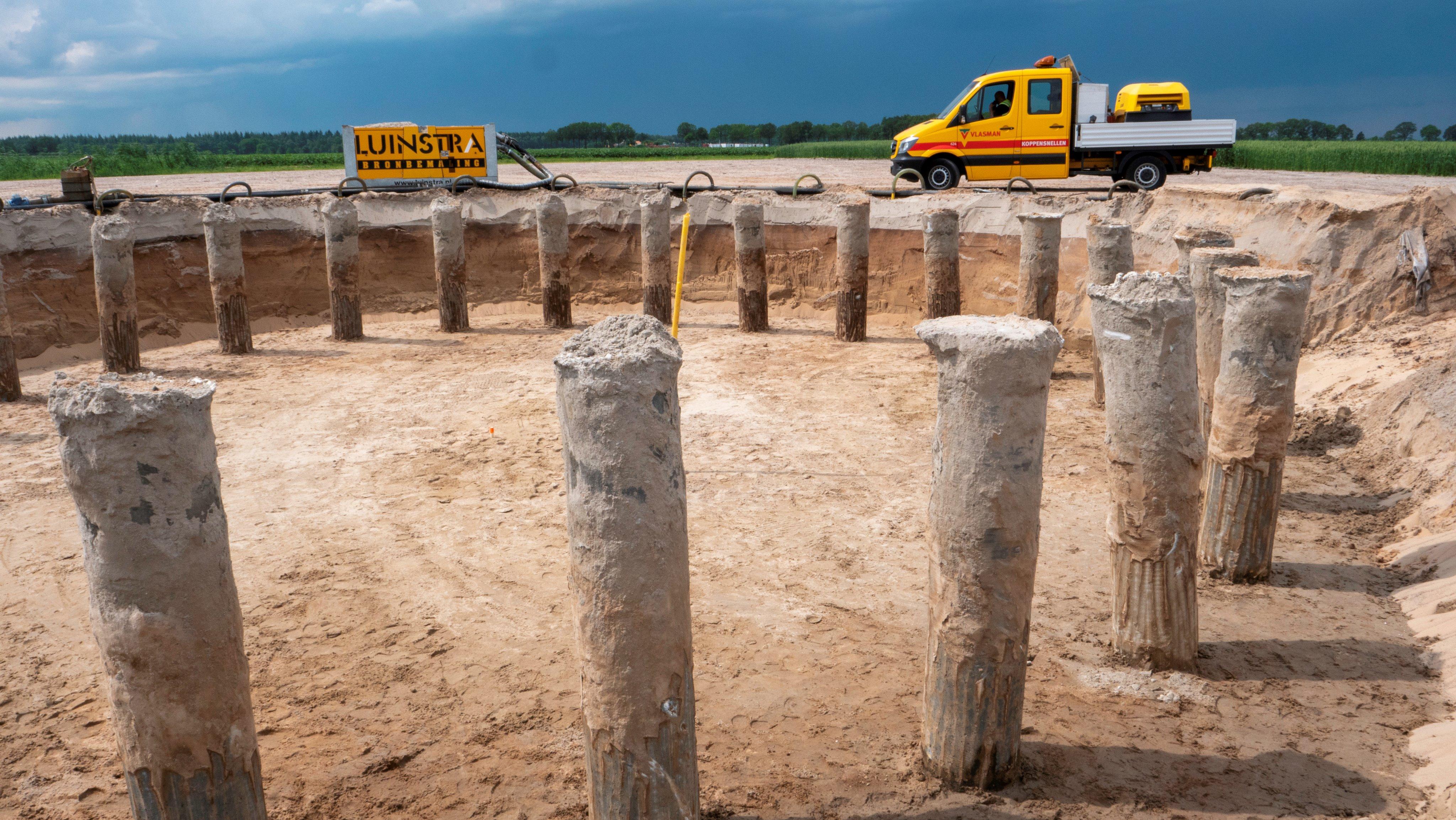 Heiwerkzaamheden Windpark Weijerswold in volle gang