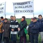 Protest Berkhout tegen windturbines