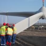 Windpark Burgerveen in aanbouw