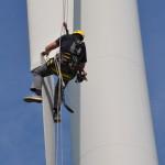 epoMAT repareert rotorbladen windturbines in de lucht
