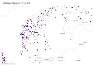 Kaart locaties Friesland