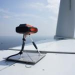 LIDAR-installatie meet wind op windturbine