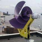 Kleine windmolens renderen alleen op hoge daken