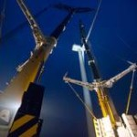Alstom test-windturbine geplaatst in Wieringermeer