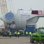 6 MW windturbine aangekomen in Oostende