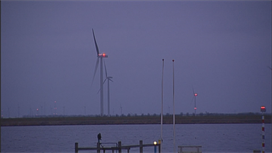 lampen windpark Zuidlob Flevoland