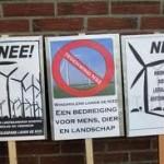 Weer trammelant windpark N33 in Groningen