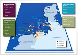 Deutsche Windparks mit HGÜ-Netzanbindung / German wind farms with HVDC grid connection