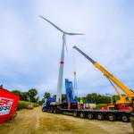 Bouw Belgisch windpark in Geel op volle toeren