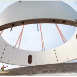 1e betonnen ring Windpark NOP geplaatst