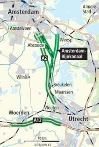 Plaats windturbines langs Utrecht-Rijnkanaal of snelwegen