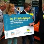 Ockels neemt 1e windwissel voor Amsterdam in ontvangst